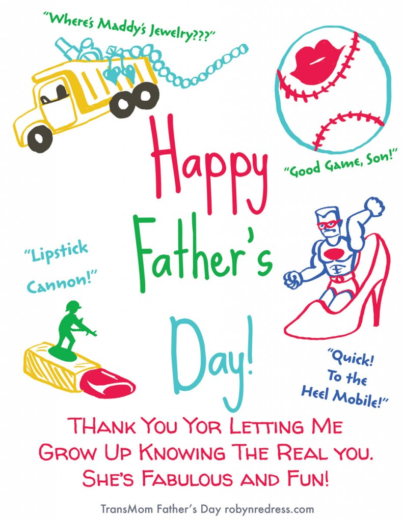 Transmom TransDad MTF Father's Day Card